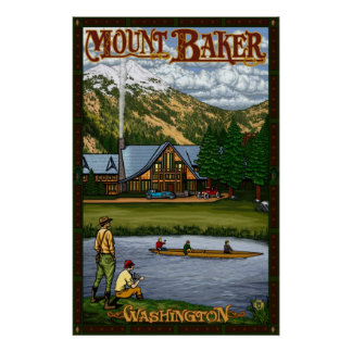 Mount Baker Lodge - Northern Cascade Travel Poster