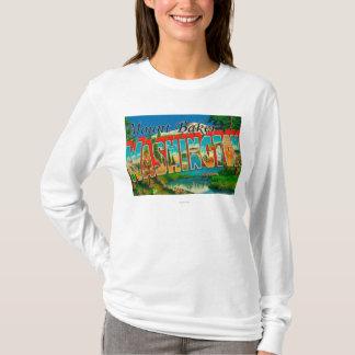 Mount Baker, Washington - Large Letter Scenes T-Shirt