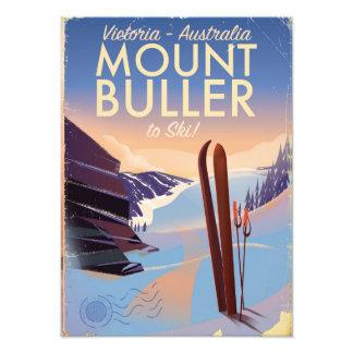 Mount Buller Australia vintage Ski poster
