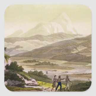 Mount Cayambe, Ecuador, from 'Le Costume Ancien et Square Sticker