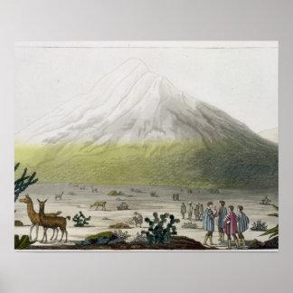 Mount Chimborazo, Ecuador, from 'Le Costume Ancien Poster