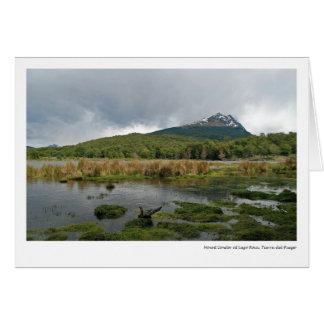 Mount Condor at Lago Roca, Tierra del Fuego Card
