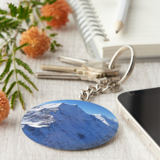 Mount Cook (Aoraki) Peak, New Zealand Key Ring