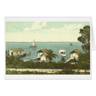 Mount, Dora, FL, Boat House Row, 1907 Card