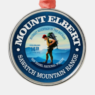 Mount Elbert (Hiker C) Metal Ornament