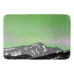 Mount Elbret Green Mountain Landscape Bath Mat