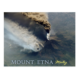 Mount Etna's Volcanic Eruption in 2002 Postcard