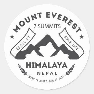 Mount Everest Round Sticker