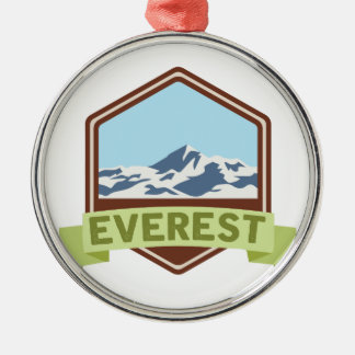 Mount Everest Silver-Colored Round Decoration