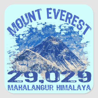 Mount Everest Square Sticker