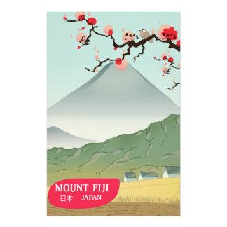 mount fiji Japan vintage travel print Stationery