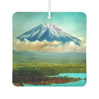 Mount Fuj beyond Lake Motos Vintage Japan 富士山