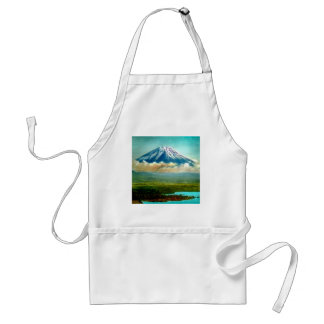 Mount Fuj beyond Lake Motos Vintage Japan 富士山 Standard Apron