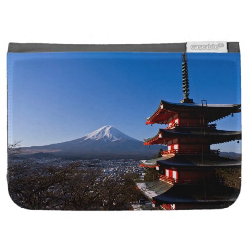 Mount Fuji and red pagoda Case For The Kindle