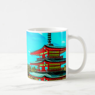 Mount Fuji and tower Coffee Mug