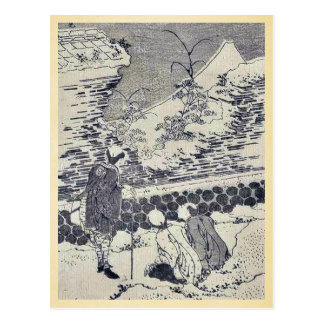 Mount Fuji at second glance by Katsushika, Hokusai Postcard