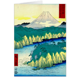 Mount Fuji from Hakone Lake 1858 Card