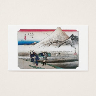 Mount Fuji in the Morning from Hara, Japan. Business Card