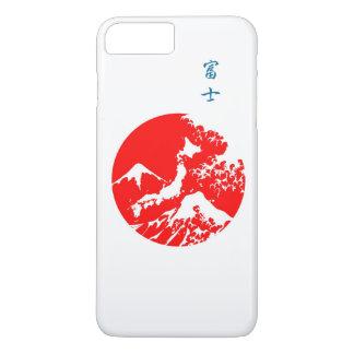 Mount Fuji Retro Case. Red Japanese Print iPhone 7 Plus Case