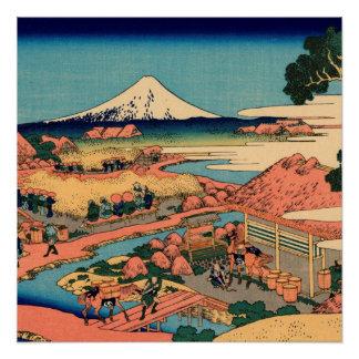 Mount Fuji seen from the tea plantation