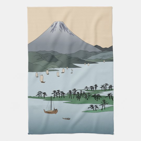 Mount Fuji Tea Towels