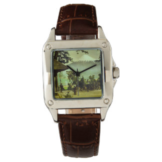 Mount Fuji through the Pines of Suzukawa Vintage Wrist Watches