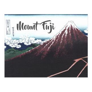 Mount Fuji Ukiyo-e by Hokusai, Japanese Postcard