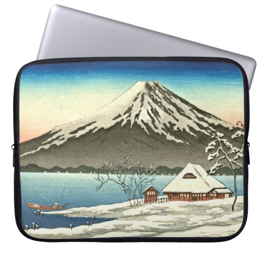 Mount Fuji Winter 1890 Laptop Sleeve