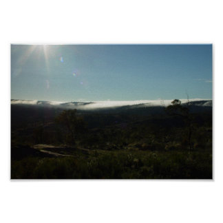 Mount Helena Wreathed In Fog Poster
