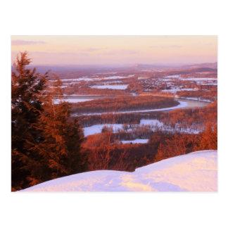Mount Holyoke Winter Evening Postcard