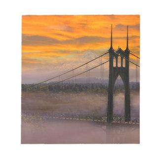 Mount Hood by St Johns Bridge during Sunrise Notepad