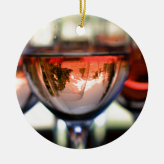 Mount Hood in a Wine Glass Ornament