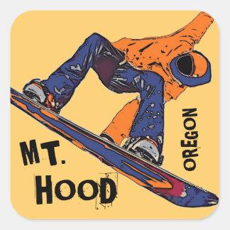 Mount Hood Oregon orange snowboard stickers