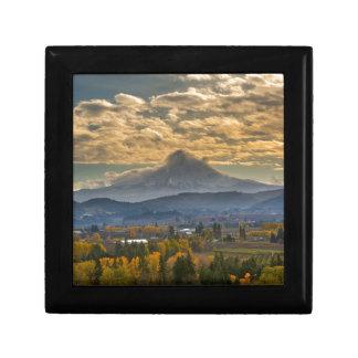 Mount Hood Over Farmland in Hood River in Fall Gift Box
