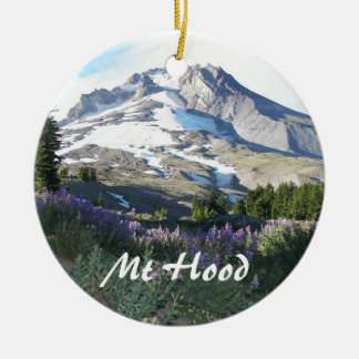 Mount Hood Photo Ceramic Ornament