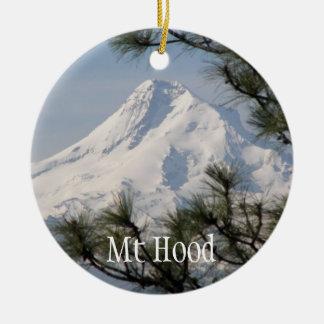 Mount Hood Round Ceramic Decoration