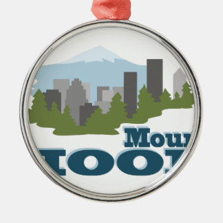 Mount Hood Silver-Colored Round Decoration