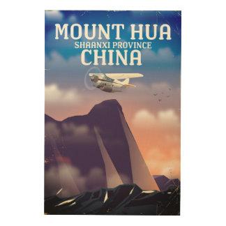Mount Hua China vintage flight poster