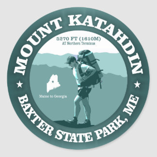 Mount Katahdin Classic Round Sticker