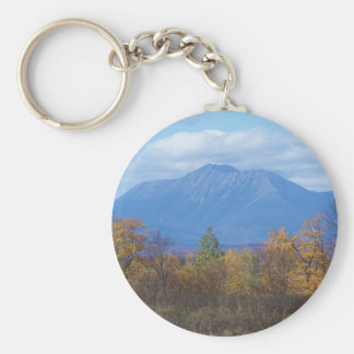Mount Katahdin from Stacyville Basic Round Button Key Ring