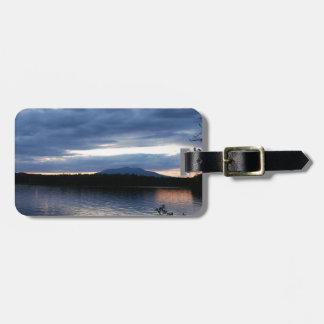 Mount Katahdin Millinocket Lake Maine at Dusk Luggage Tag