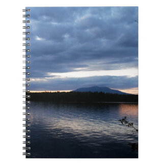 Mount Katahdin Millinocket Lake Maine at Dusk Notebook