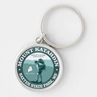 Mount Katahdin Silver-Colored Round Key Ring