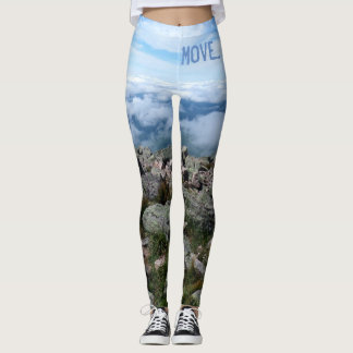 Mount Katahdin yoga leggings