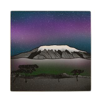 Mount Kilimanjaro illustration Wood Coaster