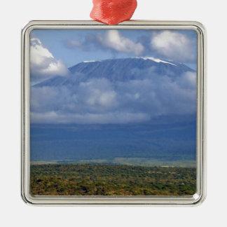 Mount Kilimanjaro Tanzania Landmark Landscapes Metal Ornament
