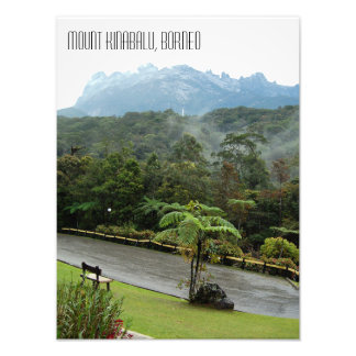 Mount Kinabalu Mountain View Sabah Borneo Photo Print