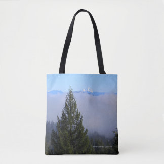 Mount Lassen in the fog... Tote Bag