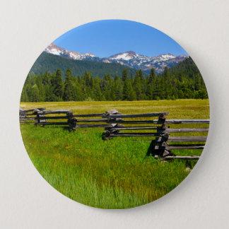 Mount Lassen National Park in California 10 Cm Round Badge