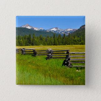 Mount Lassen National Park in California 15 Cm Square Badge